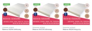 MATERACE KLUCZBORK